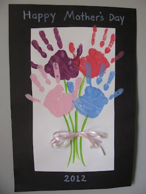 handprint boquet