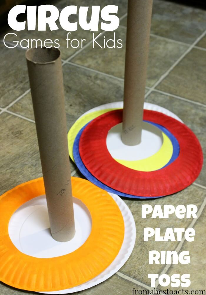 Preschool-Circus-Games-Paper-Plate-Ring-Toss