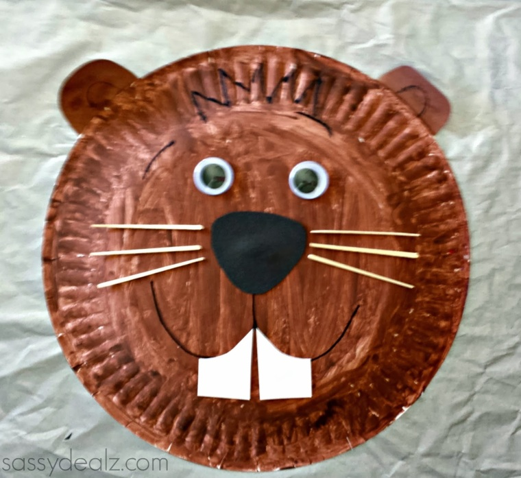 groundhog-paper-plate-craft